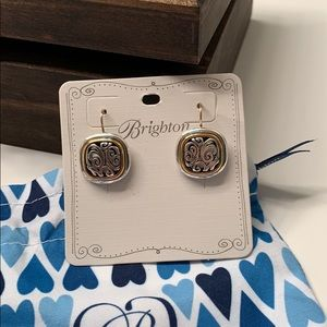 Brighton mixed metal clasp back earrings. NWT